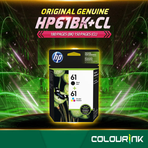 Picture of HP 61 Original Combo pack CR311AA Black + Tri Color Ink Cartridges 1050/2050/1510