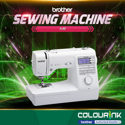 Picture of Brother A80 Portable Strong Computerized Sewing Machine 8 Buttonhole Stitches |80 Built-in Stitches |Twin needle setting | Advanced one-action needle threader