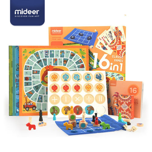 Picture of Mideer 16 in 1 Classic Board Games