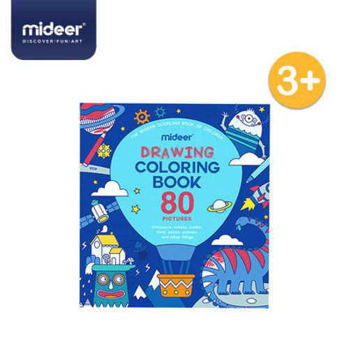 Picture of Mideer Drawing Coloring Book - Boy