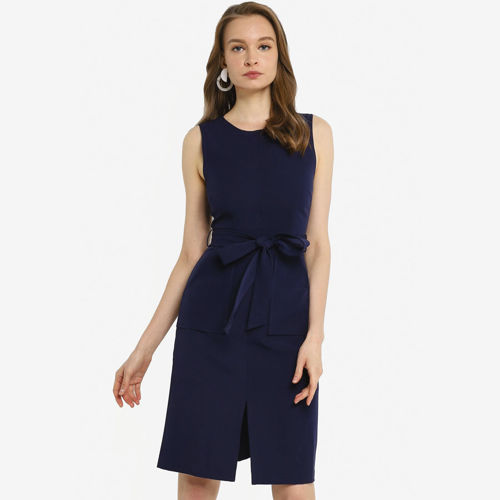 Picture of JULY ®Anokhi Midi Dress in Navy