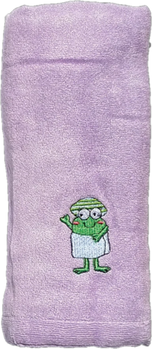 Picture of CrokCrokFrok Bamboo Towel for Baby & Kids - Purple - Small