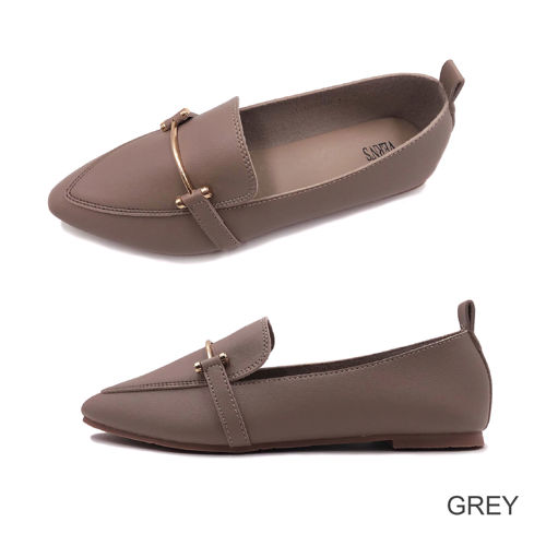 Picture of VERN'S Pointed Toe Loafer Flat Pumps - S11030910