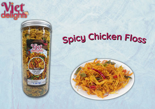 Picture of 🔥SPICY🔥 Chicken Floss with Lemon leaves and dried chili from Vietnam. [400g per bottle]