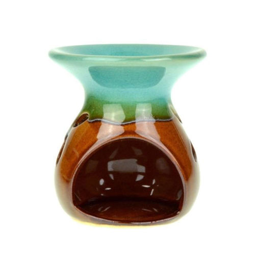 Picture of Naturalis Apothecary Round Green Brown Mix Color Ceramic Fragrance Aroma Oil Burner