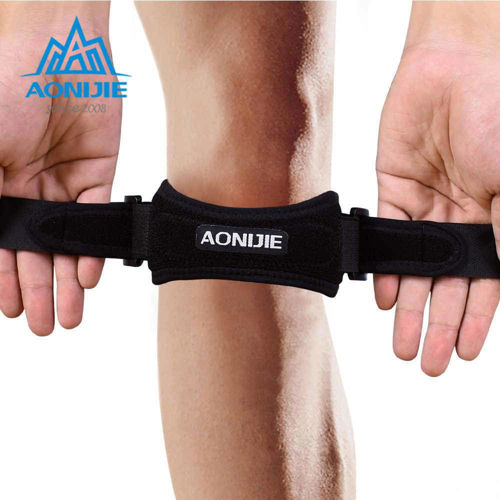 Picture of AONIJIE E4067 Adjustable Patella Knee Strap Brace Support Pad Pain Relief Band for Hiking Soccer Basketball Volleyball Squats