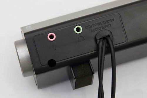 Picture of AudioBox SonicBar U150 Strong and Powerful Bass Wired Portable Soundbar   10 Watts Output Power   1 Year Warranty