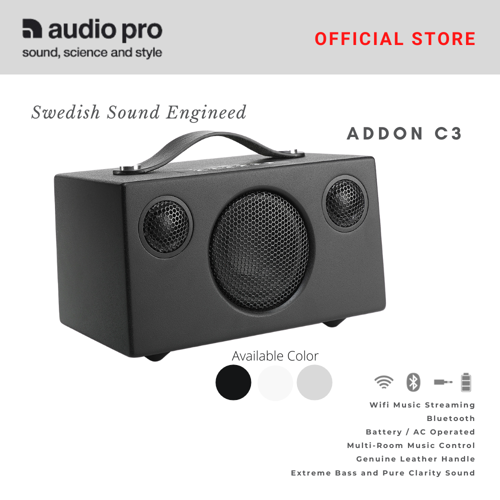 Picture of AUDIO PRO Addon C3 Wifi Multiroom Speaker with Built-in Battery -Black
